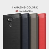 เคส Xperia XA2 Ultra Carbon Fiber Metallic 360 Protection TPU Case