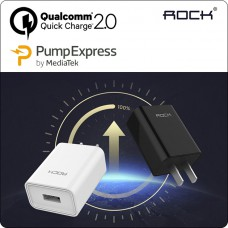 ROCK Qualcomm Quick Charge QC2.0 & Mediatek Pump Express 2 in 1 Wall Charger