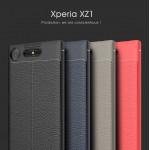 เคส Xperia XZ1 Dermatoglyph Full Cover Leather TPU Case
