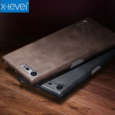 เคสหนัง Xperia XZ1 Compact X-Level Vintage Series Case