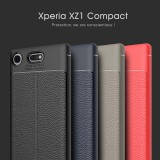 เคส Xperia XZ1 Compact Dermatoglyph Full Cover Leather TPU Case