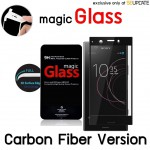 ฟิล์มกระจก  แบบเต็มจอลงโค้ง Magic Glass 3D Glass Screen Protector for Xperia XZ1 Compact (Carbon Fiber Version)