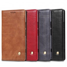 เคสหนังฝาพับ Xperia XZ1 Vintage Leather Wallet Stand