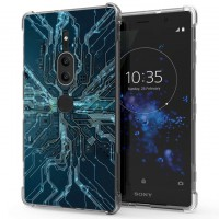 เคส SONY Xperia XZ2 Premium Digital Series 3D Anti-Shock Protection TPU Case [DG002]
