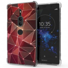 เคส SONY Xperia XZ2 Premium Polygon Series 3D Anti-Shock Protection TPU Case [PG004]