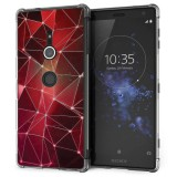 เคส SONY Xperia XZ2 Polygon Series 3D Anti-Shock Protection TPU Case [PG004]