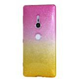 เคส SONY Xperia XZ2 Gradient Two-tone Glitter Slim TPU (Pink-Yellow)