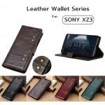 เคสหนัง Xperia XZ3 Crazy Horse Leather Wallet 360 Luxury Flip Case