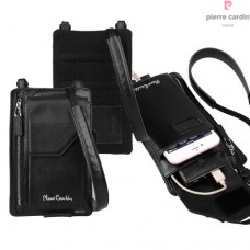 กระเป๋าหนังแท้ PIERRE CARDIN Genuine Leather Pouch Crossbody Bag