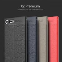 เคส SONY Xperia XZ Premium Dermatoglyph Full Cover Leather TPU Case