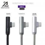 สายชาร์จ alumania HORIZONTAL USB CABLE (TYPE-C) (USB A to C) ยาว 0.9 เมตร