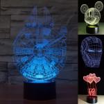 โคมไฟ ตั้งโต๊ะ 3 มิติ LED 3D