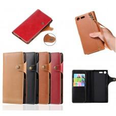 เคสหนัง Xperia XZ Premium Classic Leather with strap