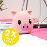 แบตเตอรี่สำรองแบบพกพา Moji PowerBank 5200 mAh - Piggie