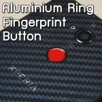 สติ๊กเกอร์ติดปุ่มสแกนลายนิ้วมือ Aluminium Ring Fingerprint Button for Xperia / iPhone