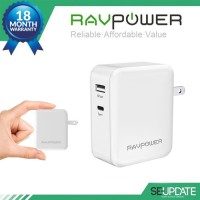 [ของแท้] Adapter ที่ชาร์จ RAVPower 36W Type-C PD Dual Port Wall Charger