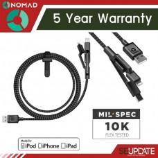 สายชาร์จ/ซิงค์ Nomad Ultra Rugged Universal Cable - 1.5 เมตร (รับประกัน 5 ปี)