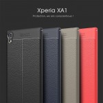 เคส SONY Xperia XA1 Dermatoglyph Full Cover Leather TPU Case
