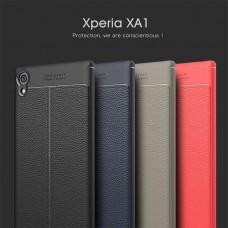 เคส SONY Xperia XA1 Dermatoglyph Full Cover Leather TPU Case