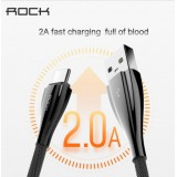 สายชาร์จ/ซิงค์ ROCK Alloy Metal Type C Data Cable (USB A to C) - 100 cm