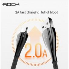 สายชาร์จ/ซิงค์ แบบสายสั้น ROCK Alloy Metal Type C Data Cable (USB A to C)  - 30 cm