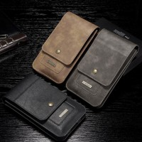 กระเป๋าหนังแท้ DG.MING Universal Split Leather Pouch [Multi-Function]