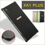 เคส Xperia XA1 Plus Hybrid Metal Bumper + Carbon Backboard