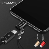 หัวแปลง USAMS Micro USB to Type-C Adapter + แถมสายคล้อง
