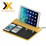 X-Premium Bamboo 4 Ports Universal Charging Station with Quick Charge 2.0