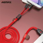 สายชาร์จ/ซิงค์ 2 in 1 REMAX At The Same Time MicroUSB / iPhone