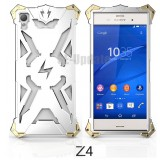 Simon Thor Aviation Aluminum Bumper for Xperia Z3+ / Z4 : สีเงิน