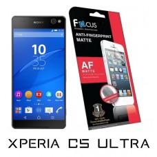 ฟิล์มกันรอยนิ้วมือแบบด้าน(AF-Matte) Focus สำหรับ Xperia C5 Ultra ด้านหน้า