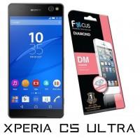 ฟิล์มกันรอยประกายเพชรแบบใส(DM) Focus  สำหรับ Xperia C5 Ultra ด้านหน้า