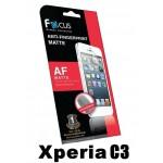 ฟิล์มกันรอยนิ้วมือแบบด้าน(AF-Matte) Focus สำหรับ Xperia C3 ด้านหน้า