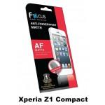 ฟิล์มกันรอยนิ้วมือแบบด้าน(AF-Matte) Focus สำหรับ Xperia Z1 Compact หน้า-หลัง