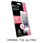ฟิล์มกันรอยประกายเพชรแบบใส(DM) Focus  สำหรับ Xperia T2 Ultra ด้านหน้า