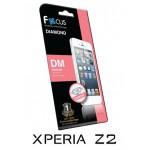 ฟิล์มกันรอยประกายเพชรแบบใส(DM) Focus  สำหรับ Xperia Z2 หน้า-หลัง