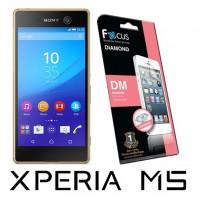 ฟิล์มกันรอยประกายเพชรแบบใส(DM) Focus  สำหรับ Xperia M5 หน้า-หลัง