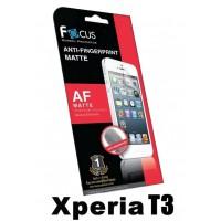 ฟิล์มกันรอยนิ้วมือแบบด้าน(AF-Matte) Focus สำหรับ Xperia T3 ด้านหน้า