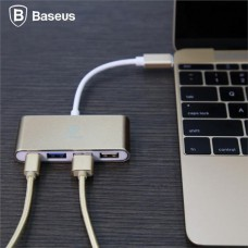 Baseus Type-C to 3-HUB adapter (USB 2.0 และ 3.0)