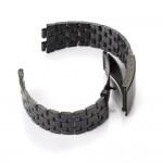 สายนาฬิกาสแตนเลส 22mm สีดำด้าน