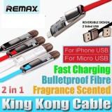 สายชาร์จ/ซิงค์ 2 in 1 REMAX Transfomer KingKong USB Cable มีกลิ่นหอม