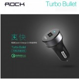 ที่ชาร์จในรถ ROCK Turbo Bullet Qualcomm Quick Charge 2.0 Car Charger (QC 2.0)