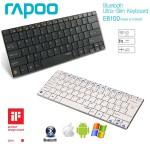 Keyboard ไร้สาย Rapoo Ultra-Slim E6100 สำหรับ Smartphone , Tablet (มีแป้นภาษาไทย)