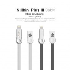 สายชาร์จ/ซิงค์ 2 in 1 Nillkin Plus 3 Cable (Micro USB & Lightning)