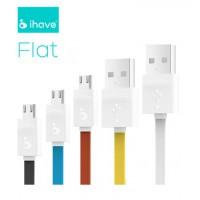 สายชาร์จ/ส่งข้อมูล USB สายแบน iHave FLAT
