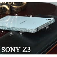 ฟิล์มกันรอย ขอบด้านข้าง กากเพชรเนื้อทราย Glitter สำหรับ Xperia Z3
